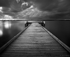 Military Jetty b&w