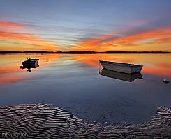 Golden Beach Reflection